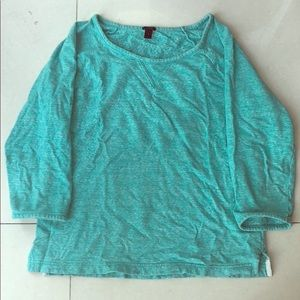 J. Crew sz s soft 3/4 sleeve blue/green sweatshirt